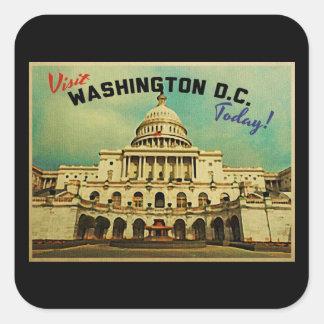 Vintage del Washington DC Pegatina Cuadrada