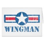 Vintage del Wingman Felicitación