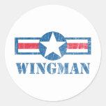 Vintage del Wingman Pegatinas
