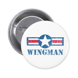Vintage del Wingman Pin Redondo De 2 Pulgadas