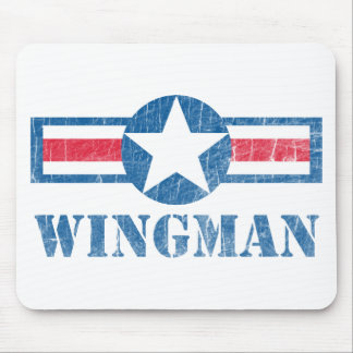 Vintage del Wingman Tapete De Ratón