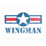 Vintage del Wingman Tarjeta Postal