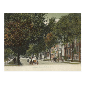 Vintage Delaware Ave. Buffalo, New York Postcard