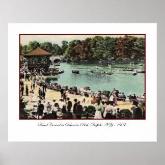 Vintage Delaware Park Poster
