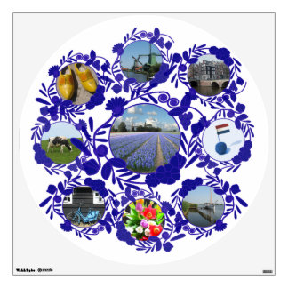 Vintage Delft Blue Delftware Holland Pattern Wall Decal