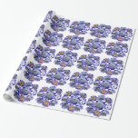 Vintage Delft Blue Delftware Holland Pattern Wrapping Paper
