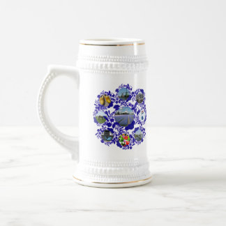 Vintage Delftware/ Delft Blue Style Holland Stein 18 Oz Beer Stein