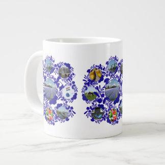 Vintage Delftware Style Holland Pattern Large Coffee Mug