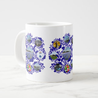Vintage Delftware Style Holland Pattern 20 Oz Large Ceramic Coffee Mug