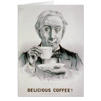 Vintage Delicious Coffee Card-All Occasion