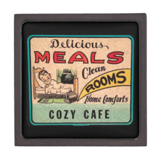 Vintage Delicious Meals Clean Rooms Home Comforts Gift Box