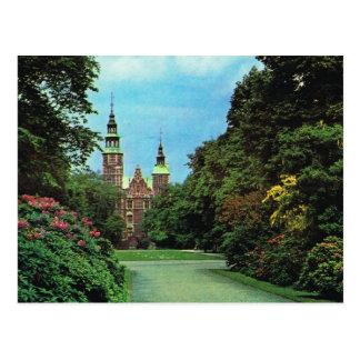 Vintage  Denmark, Copenhagen, Rosenburg Castle Postcard