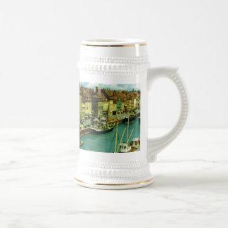 Vintage Denmark, Copenhagen waterfront Coffee Mugs