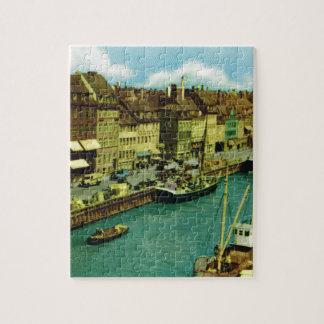 Vintage Denmark, Copenhagen waterfront Puzzles