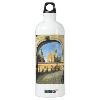 Vintage  Denmark, Frederiksburg Castle Aluminum Water Bottle