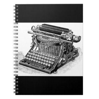 Vintage Densmore Typewriter, Notebook