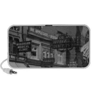 Vintage Dentist Doctor Bank Street Signs Portable Speakers