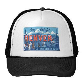 Vintage Denver Colorado Gorras