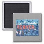 Vintage Denver Colorado Iman De Frigorífico