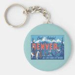 Vintage Denver Colorado Llavero Personalizado