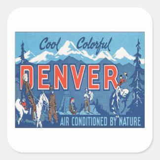 Vintage Denver Colorado Colcomania Cuadrada