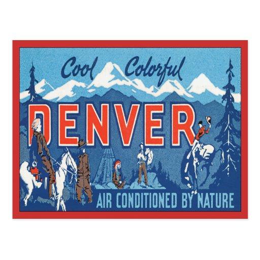 Vintage Denver Colorado Post Cards