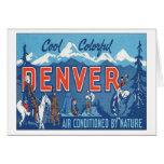 Vintage Denver Colorado Tarjetón