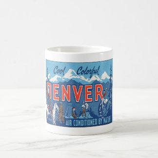 Vintage Denver Colorado Tazas