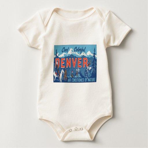 Vintage Denver Colorado Traje De Bebé