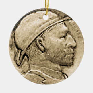 """Vintage 'DEPRESSION HOBO NICKLE' Ornament"" Ceramic Ornament"