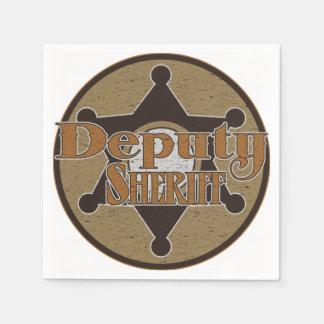 Vintage Deputy Sheriff Paper Napkin