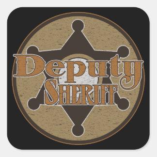 Vintage Deputy Sheriff Square Sticker