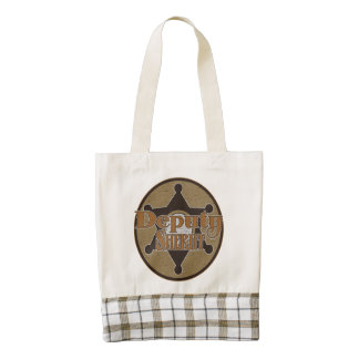 Vintage Deputy Sheriff Zazzle HEART Tote Bag