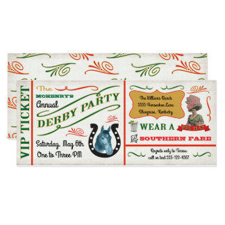 Vintage Derby Horse Racing Party Ticket Card