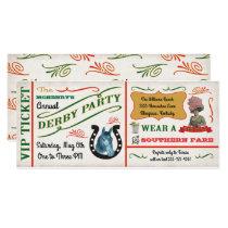 Vintage Derby Horse Racing Party Ticket Invitation