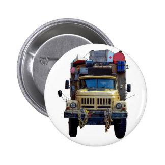 Vintage Desert Expedition Truck Button