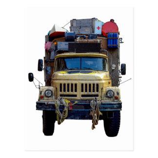 Vintage Desert Expedition Truck Postcard