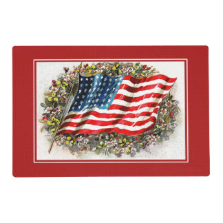 Vintage Design 4th of July Party Placemats