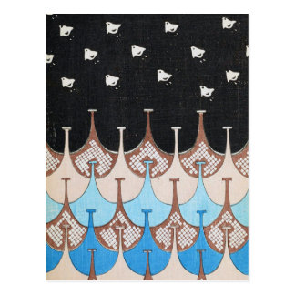 Vintage Design Art Deco Birds Postcard