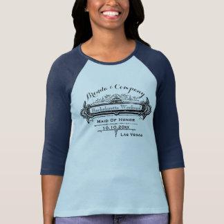 Vintage Design Bride and Bridesmaids T-Shirt