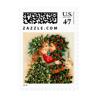 Vintage Design Christmas Postage Stamps