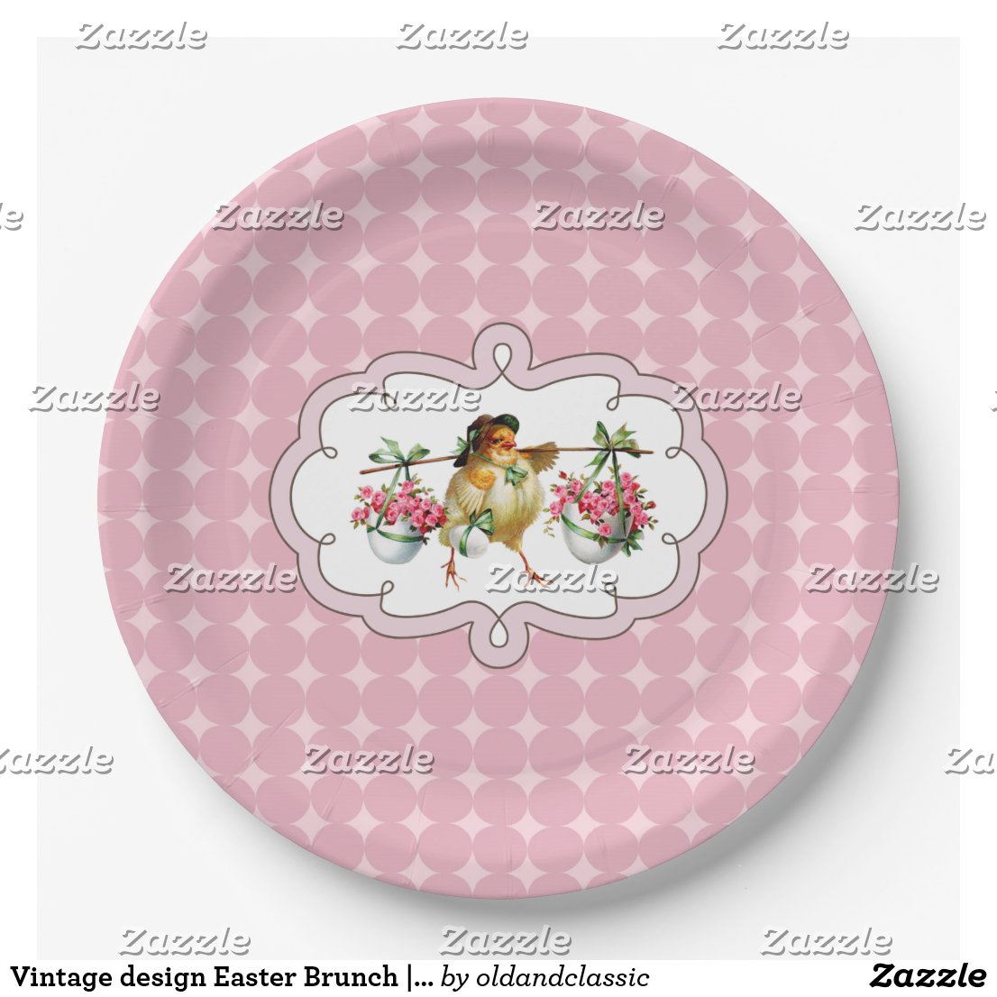 Vintage design Easter Brunch | Party Paper Plates
