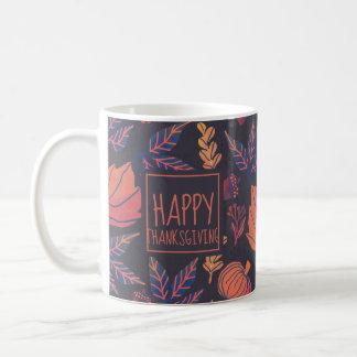 Vintage Design Happy Thanksgiving Frosted Mug