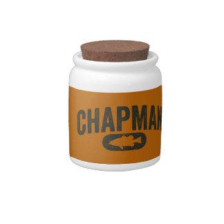 Vintage Design Orange - Chapman Bass Fishing Candy Jars
