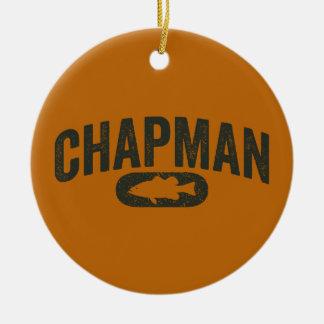 Vintage Design Orange - Chapman Bass Fishing Ceramic Ornament