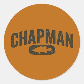 Vintage Design Orange - Chapman Bass Fishing Classic Round Sticker