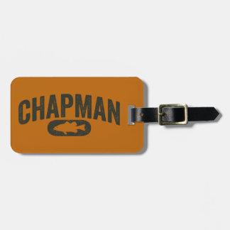 Vintage Design Orange - Chapman Bass Fishing Luggage Tag