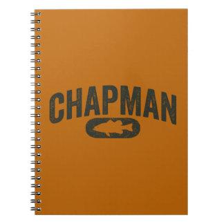 Vintage Design Orange - Chapman Bass Fishing Spiral Notebook