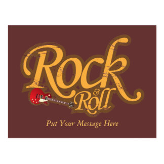 Vintage Design Postcard - Rock 'n Roll