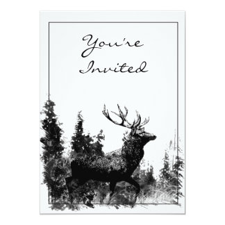 Vintage Design Stag Party Invite